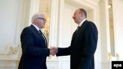 Frank-Walter Steinmeier və İlham Əliyev