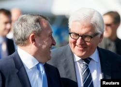 Андрей Дещица и министр иностранных дел Германии Франк-Вальтер Штайнмайер