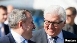 Андрей Дещица и министр иностранных дел Германии Франк-Вальтер Штайнмай