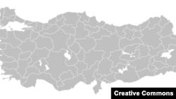 Թուրքիայի քարտեզը