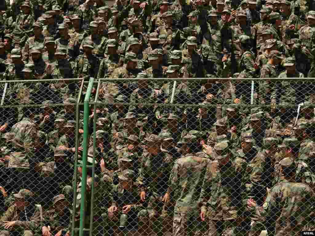 Афганістан. Вайсковы парад у Кабуле.