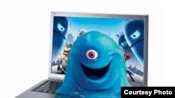 """илустрација: лаптопот на """"Сони"""" со тродимензионален дисплеј"""