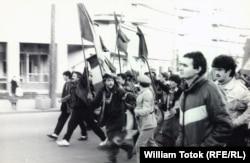 Протестувальники у Тімішоарі, грудень 1989 року