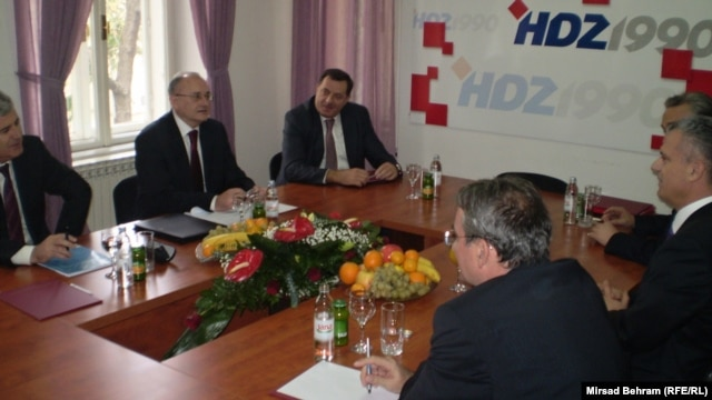 Sastanak lidera nove vladajuće većine, Mostar, 20. novembar 2012.