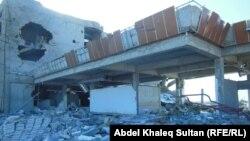 مبنى مدمر في مدينة ربيعة