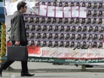 Election posters of conservative candidates in Tehran