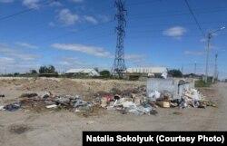 Жезқазған қаласындағы тұрмыстық қалдық-қоқыс. 13 тамыз 2013 жыл.
