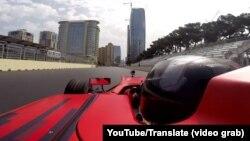 Тестовый заезд пилота «Формулы-1» в Баку.