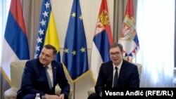 Aleksandar Vučić i Milorad Dodik u Beogradu 19. marta 2019.