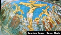Frescă de la Mînăstirea Moldovița
