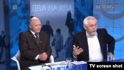 Сяргей Навумчык і Юрась Беленькі на Белсаце