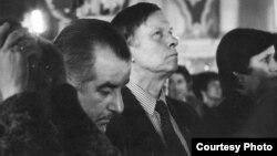 Рыгор Барадулін і Васіль Быкаў, Сафійскі сабор, Полацак, 1980-ыя гады