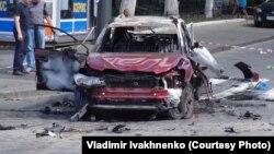 Машина, в которой погиб журналист Павел Шеремет