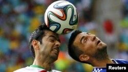 بازی ایران و بوسنی در جام جهانی ۲۰۱۴ که با شکست ایران به پایان رسید.