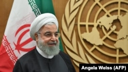 Iranian President Hassan Rohani meets with United Nations Secretary-General at the United Nations in New York, September 25, 2019