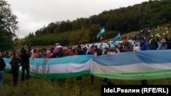 Куштауда 9 августта узган протест чарасы