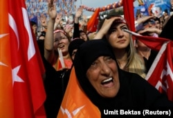 Митинг сторонников Реджепа Эрдогана в Стамбуле