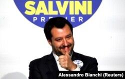 Маттео Сальвіні під час зустрічі в Римі, Італія, 1 березня 2018 року