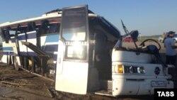Аварии с участием общественного транспорта - не редкость для дагестанских дорог