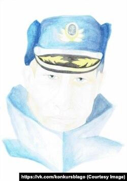 Верховный главнокомандующий. Рисунок 13-летней Серафимы Чаповой
