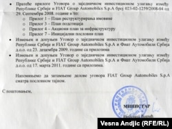 Ugovor Vlade Srbije i Fiata