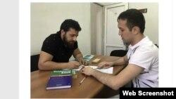Ashot Asatrian və müəllimi Ashot Movsisian