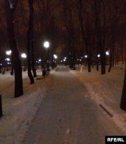 Вечрений мост в парке Щербакова