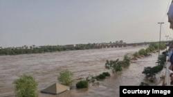 تصویری از سیل در کناره های «رود دز» در دزفول