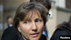 Марина Литвиненко после слушаний