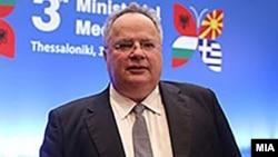 Шефот на грчката дипломатија Никос Коѕијас
