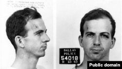 U.S. -- Oswald's Dallas Mugshot for Minsk Package, November 23, 1963.
