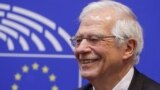 BELGIUM -- Spanish Foreign Minister Josep Borrell gives a press conference to announced that he will be no longer Member of the European Parliament (MEP) at the European Parliament in Brussels, Belgium, 26 June 2019 (