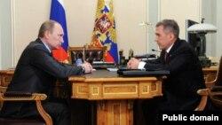 Русия президенты Владимир Путин һәм Татарстан президенты Рөстәм Миңнеханов