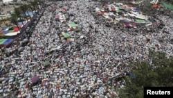 Каирдің Тахрир алаңына жиналған халық. 22 маусым 2012 жыл