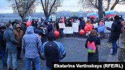Акция в поддержку Навального в Иркутске