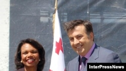 Američki državni sekretar Condoleezza Rice i gruzijski predsjednik Mikheil Saakashvili.
