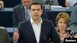 Aleksis Cipras u Evropskom parlamentu