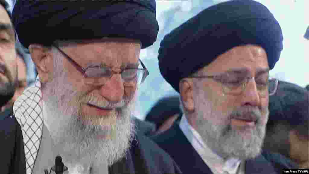 In a rare show of emotion, Iranian Supreme Leader Ayatollah Ali Khamenei openly wept as he led prayers at the coffin of Qasem Soleimani.