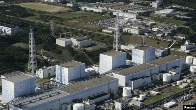 An aerial view of Fukushima Daiichi nuclear plant