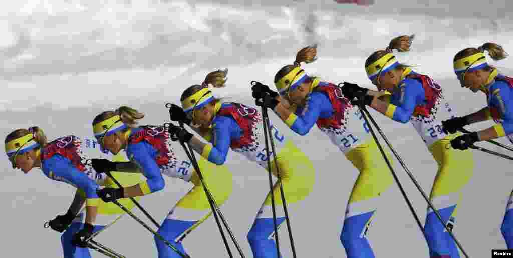 «Мультикадр»: українська лижниця Валентина Шевченко під час забігу на 10 км класичним стилем