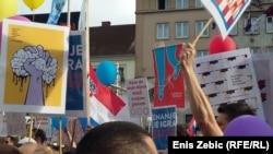 Masovni prosvjed u Zagrebu