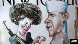 Обкладинка тижневика «Нью-Йоркер» із карикатурою на Барака Обаму та на його дружину Мішель