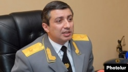 Armenia - Mihran Poghosian, head of the Service for the Mandatory Execution of Judicial Acts (SMEJA), at a news conference in Yerevan, 25Jan2013.