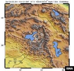مرکز وقوع زمینلرزه در نزدیکی مرز ایران