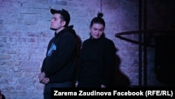 Зарема Заудинова и Алексей Полихович в Театре.doc