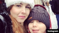 Shaparak Shajarizadeh with her child. FILE PHOTO