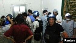 БҰҰ сарапшылары химиялық қарудан зардап шекті дегендер түскен ауруханада тексеру жүргізіп жүр. Дамаск, 26 тамыз 2013 жыл