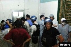 Инспекторы ООН посещают пострадавших при химической атаке под Дамаском