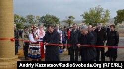 Відкриття майданчику, де будуватимуть «Агромісто», Луганськ, 5 жовтня 2011 року