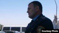 АК 159/5 түзеу мекемесінің бастығы Дмитрий Иванюк. Қарағанды облысы, 1 қыркүйек 2012 жыл.